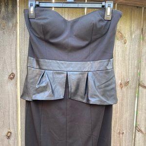 Black Strapless Jessica Simpson Dress